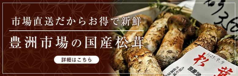 豊洲市場の国産松茸