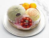 《母の日ギフト》『国産フルーツカゴ盛り Silver』 国産フルーツ4種