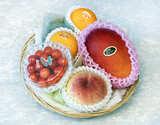 父の日 国産フルーツバスケット ゴールド 4種(マンゴー・桃・さくらんぼ・温室みかん)※冷蔵