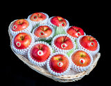 「こみつの香り(りんごのフルーツバスケット)」青森県石川地区産 約2kg(6〜12玉)