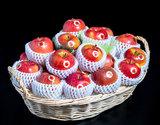 「こみつの香り(りんごのフルーツバスケット)」青森県石川地区産 約4kg(12〜24玉)