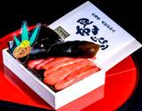 竹丸渋谷水産の『昆布〆たらこ』 北海道産虎杖浜 400g 木箱化粧箱入り ※冷凍