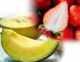 『高級フルーツセット』 静岡県産 クラウンメロン 約1kg+佐賀県産 いちごさん 約240g×2パック ※冷蔵