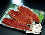 築地魚力の 超特大うなぎ蒲焼(長焼) 中国産 3尾 合計約800g 添付たれ6袋付き ※冷凍