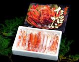 【2〜3人前】ボイルタラバ蟹 ロシア産 ハーフカット済 総重量約1kg(NET800g) 化粧箱 ※冷凍