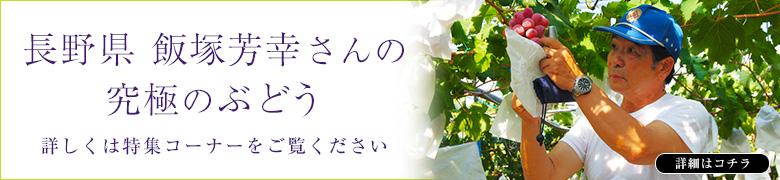 長野県 飯塚芳幸さんの究極のぶどう詳しくは特集コーナーをご覧ください